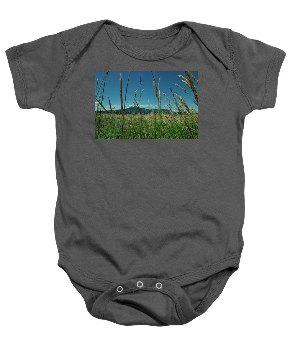 Mt Prevost Baby Onesie featuring the photograph Plain To Prevost by Travis Crockart
