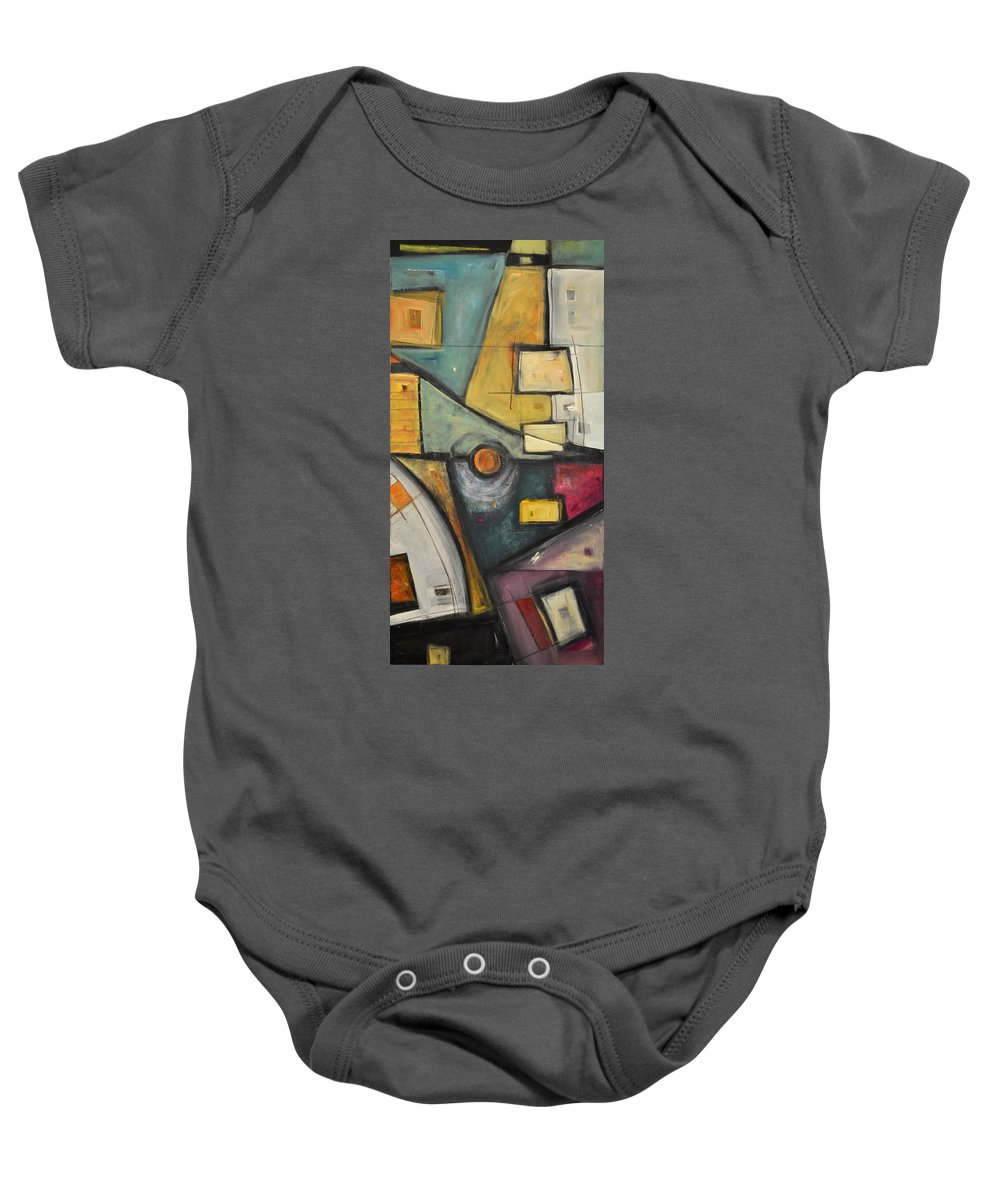 Planet Baby Onesie featuring the painting Planet Dada by Tim Nyberg