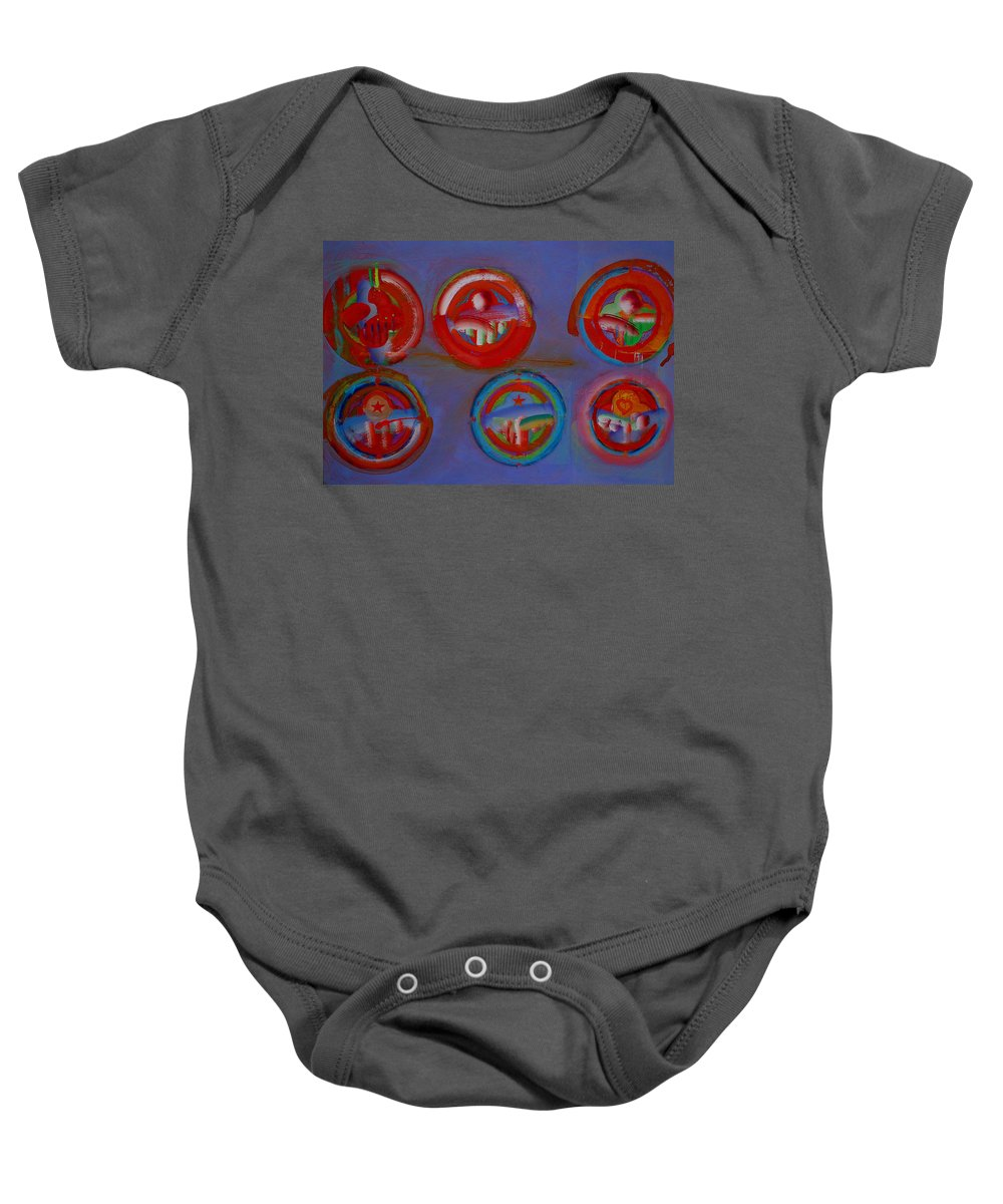 Logo Baby Onesie featuring the painting Plate State by Charles Stuart