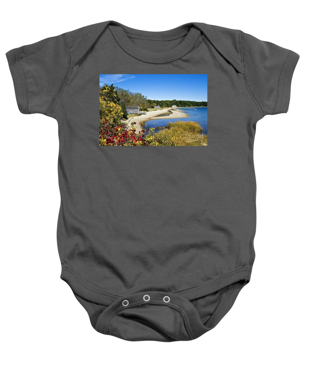 Scenics Baby Onesie featuring the photograph Pleasant Bay by John Greim