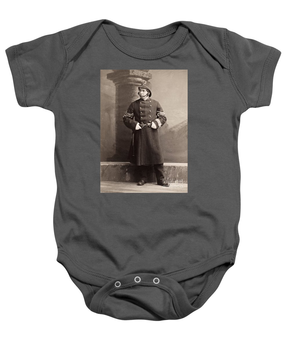 19th Century Baby Onesie featuring the photograph Police Officer by Granger