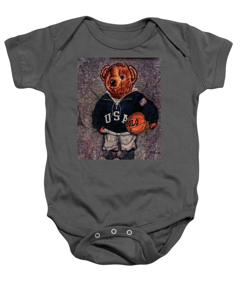 Polo Baby Onesie featuring the photograph Polo Bear Sport by Eddie G
