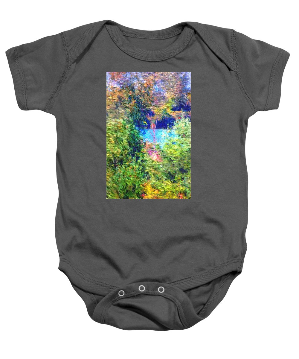 Digital Photograph Baby Onesie featuring the photograph Pond Overlook by David Lane