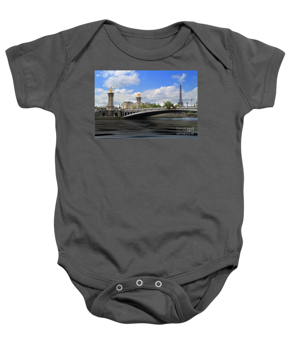 Eifflel Tower Baby Onesie featuring the photograph Pont Alexandre IIi by Louise Heusinkveld