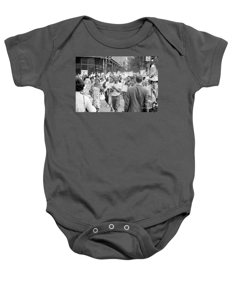 1968 Baby Onesie featuring the photograph Poor Peoples March, 1968 by Granger