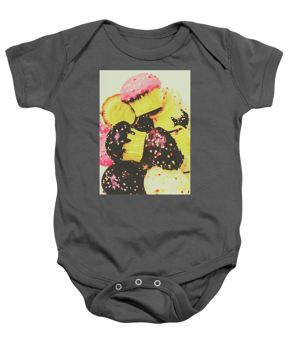 Retro Baby Onesie featuring the photograph Pop Art Bake by Jorgo Photography - Wall Art Gallery