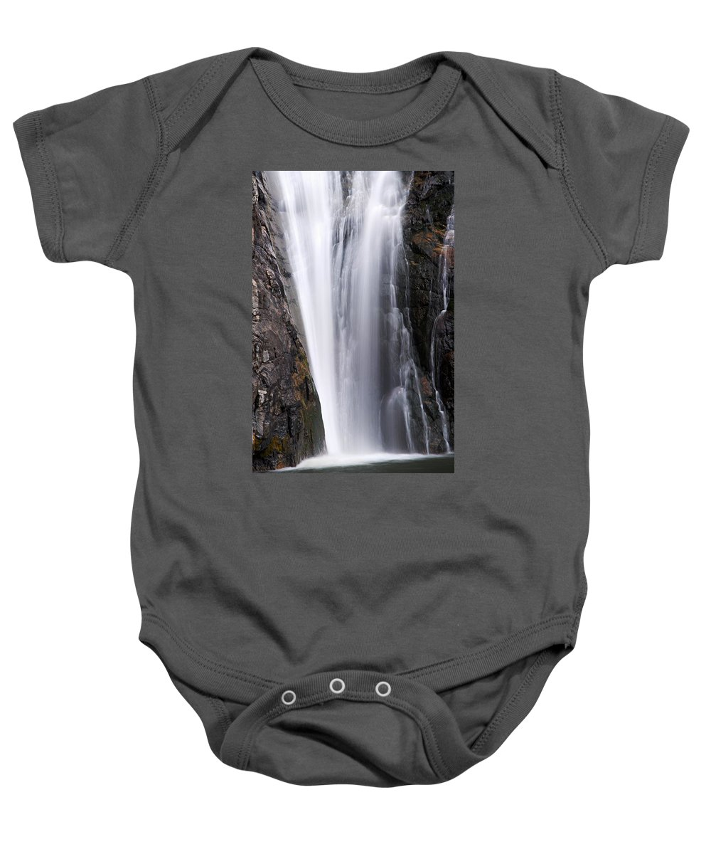 Porcupine Falls Baby Onesie featuring the photograph Porcupine Falls Closeup by Larry Ricker