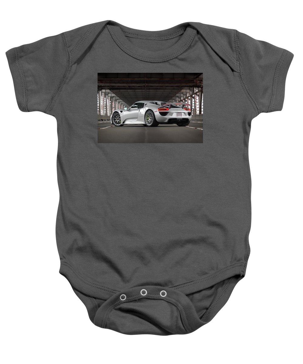 Cars Baby Onesie featuring the photograph #porsche #918spyder #print by ItzKirb Photography