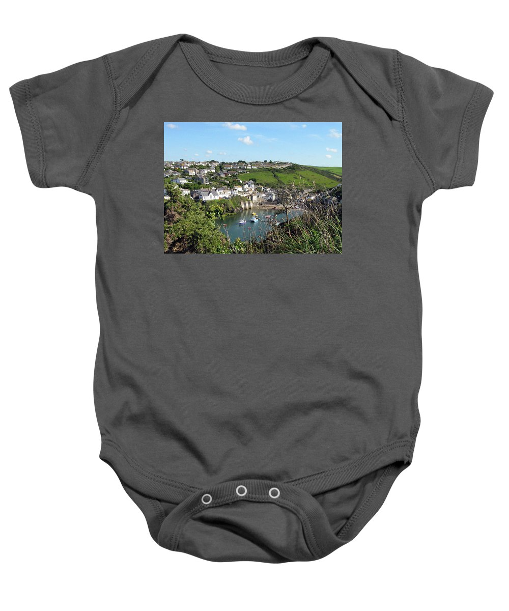 Port Isaac Baby Onesie featuring the photograph Port Isaac 1 by Kurt Van Wagner