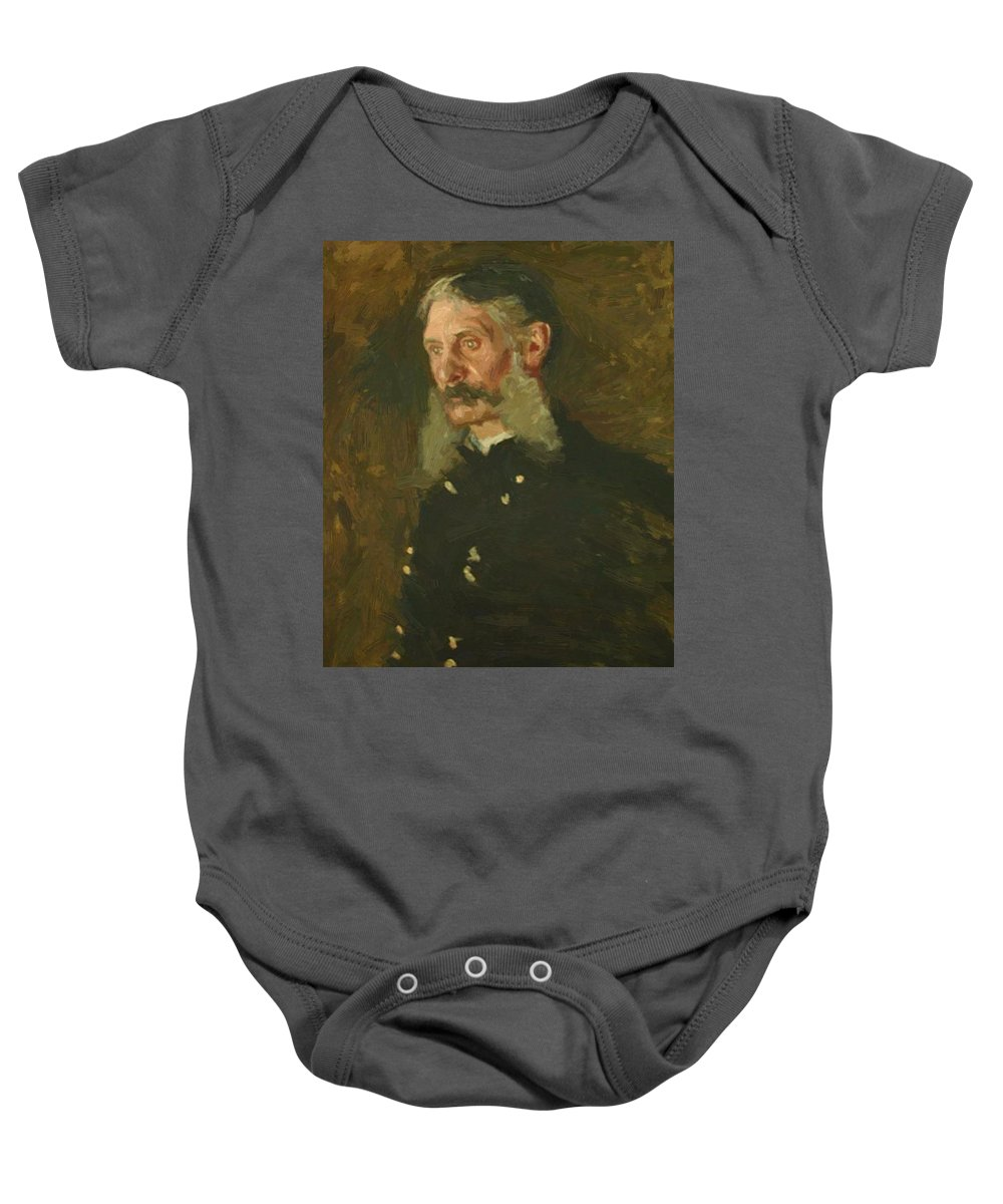 Portrait Baby Onesie featuring the painting Portrait Of General E Burd Grubb by Eakins Thomas