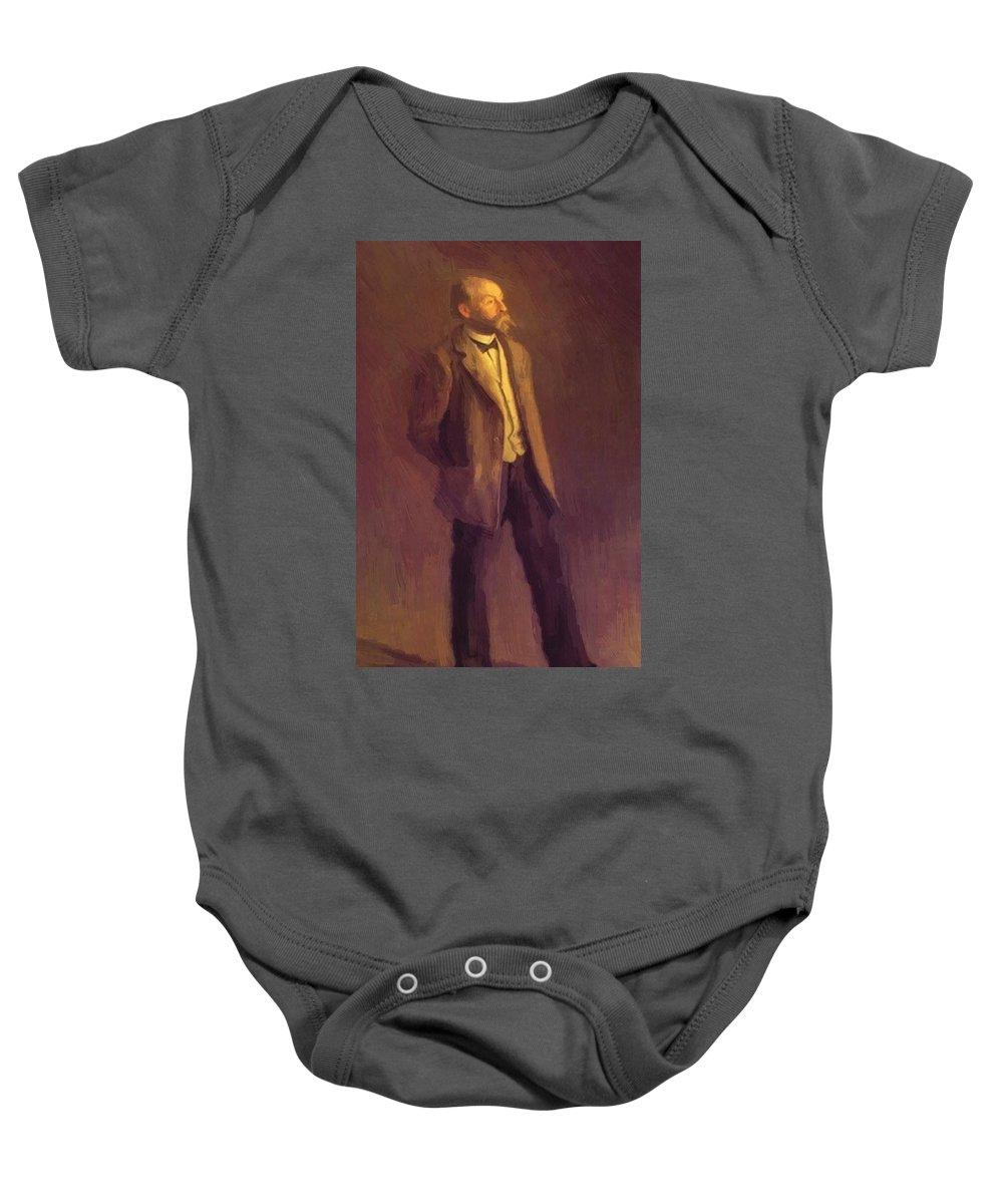 Portrait Baby Onesie featuring the painting Portrait Of John Mclure Hamilton 1895 by Eakins Thomas