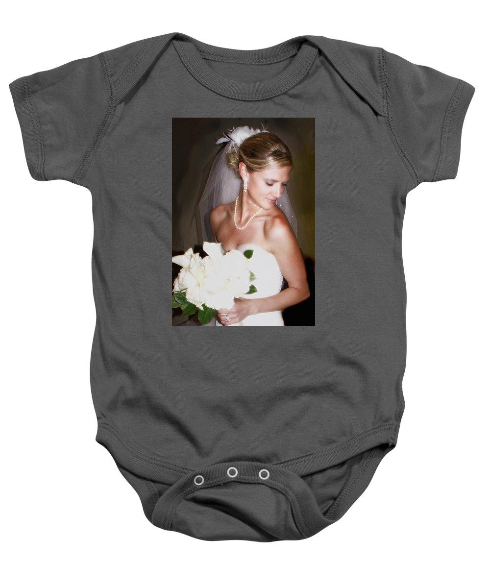 Bride Baby Onesie featuring the photograph Portraitt Of The Bride by Heather Coen