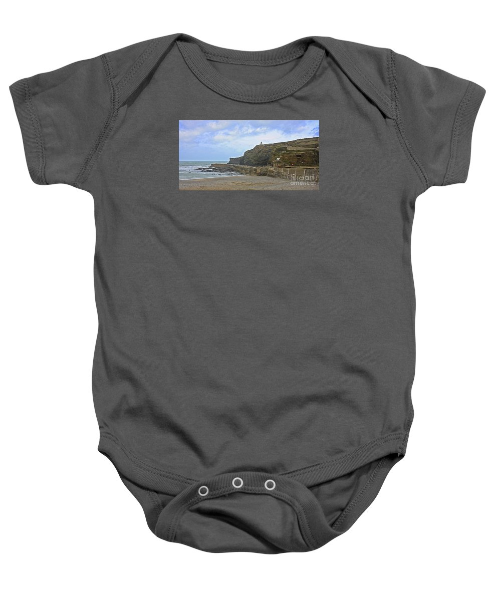 Portreath Baby Onesie featuring the photograph Portreath Cornwall by Terri Waters