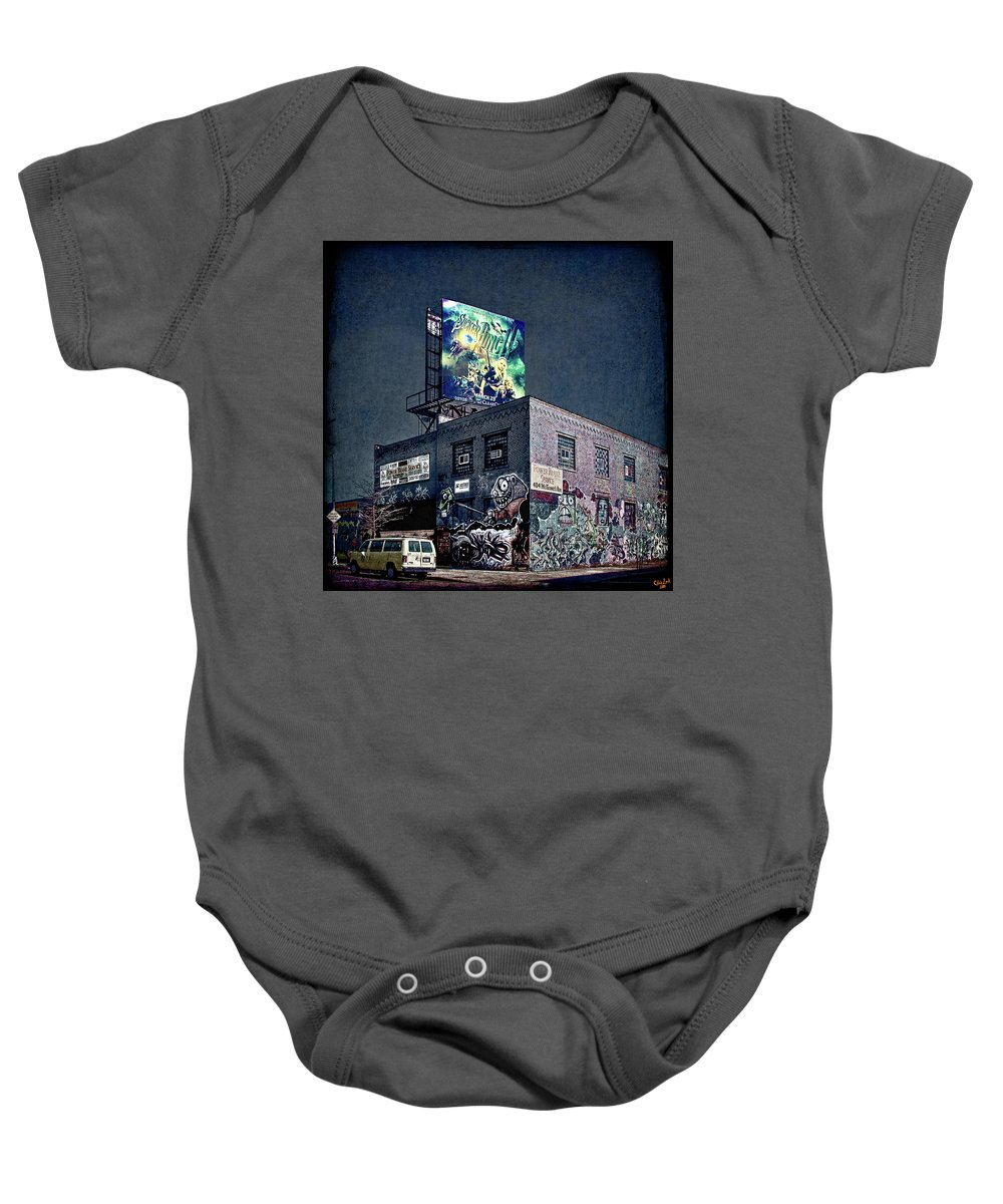 Graffiti Baby Onesie featuring the photograph Power Brakes by Chris Lord