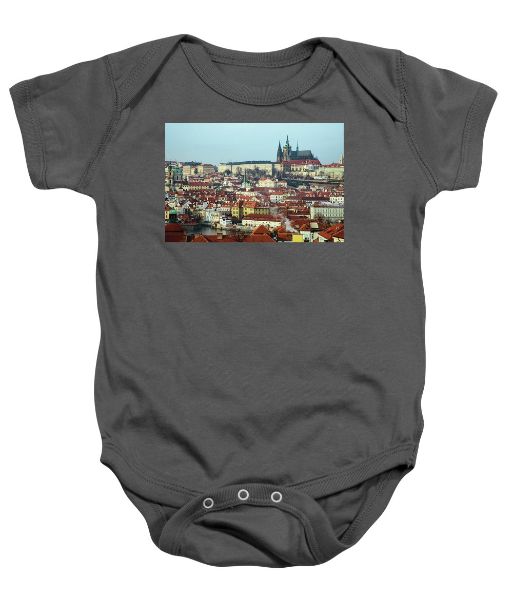 Old Town Baby Onesie featuring the photograph Prague by Anna Markova