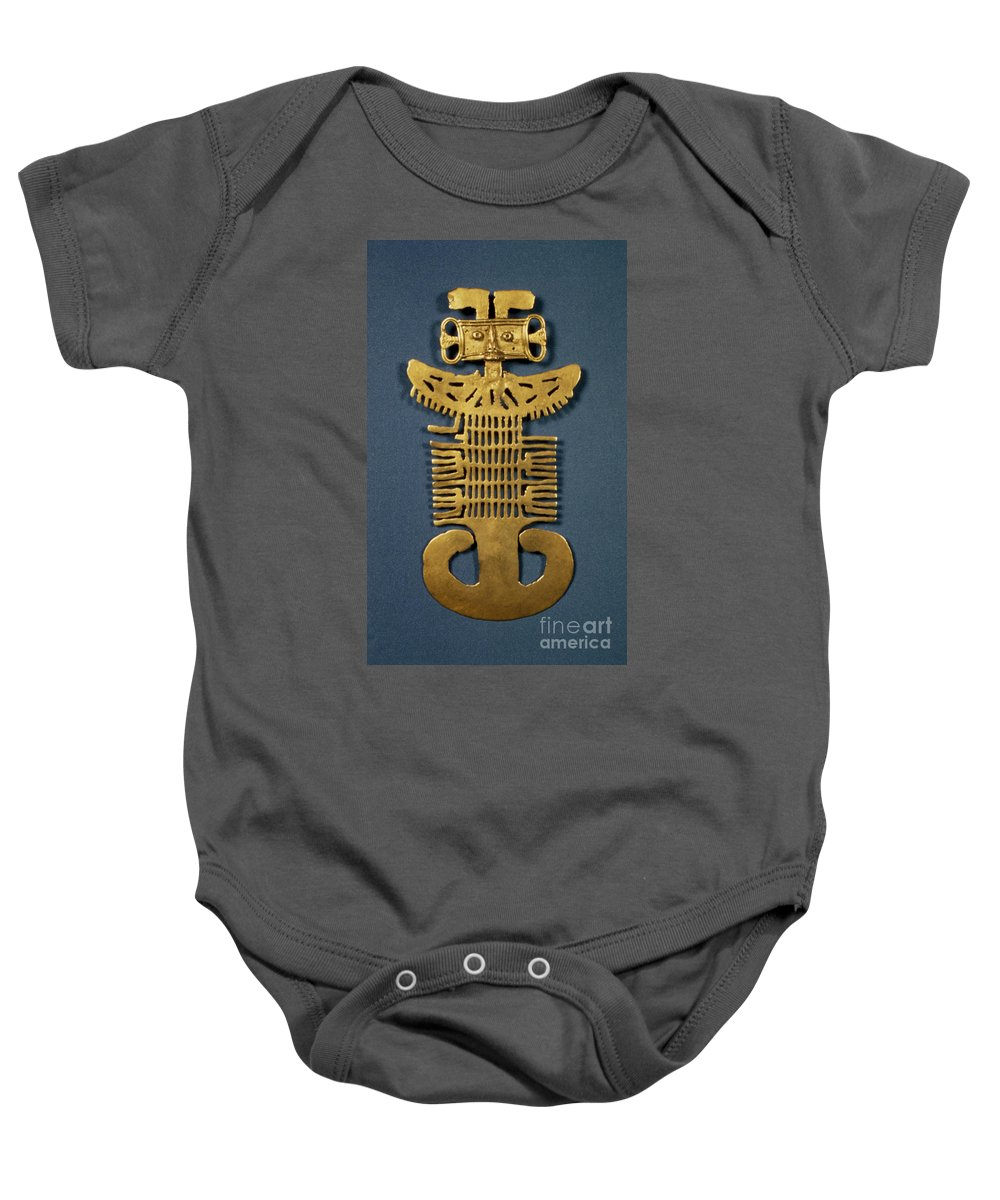Art Baby Onesie featuring the photograph Pre-columbian Art by Granger
