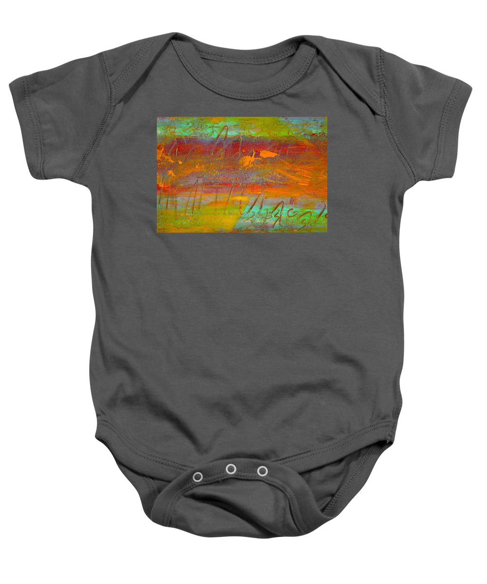 Abstract Baby Onesie featuring the painting Prelude To A Sigh by Wayne Potrafka