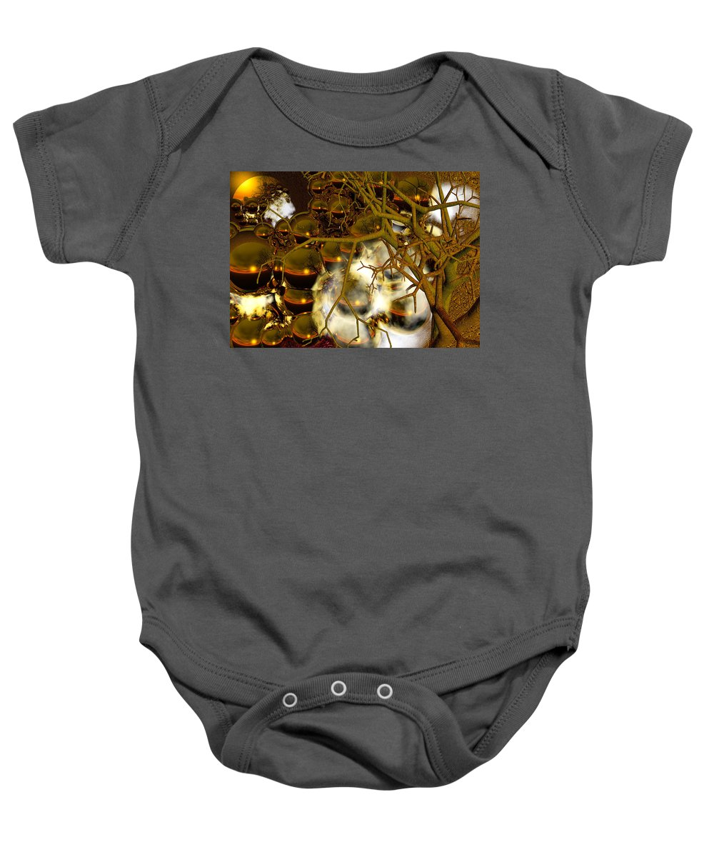 Sphere Baby Onesie featuring the digital art Premonitions by Robert Orinski