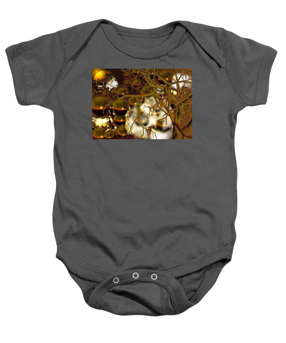 Sphere Baby Onesie featuring the digital art Premonitions by Robert Orinski