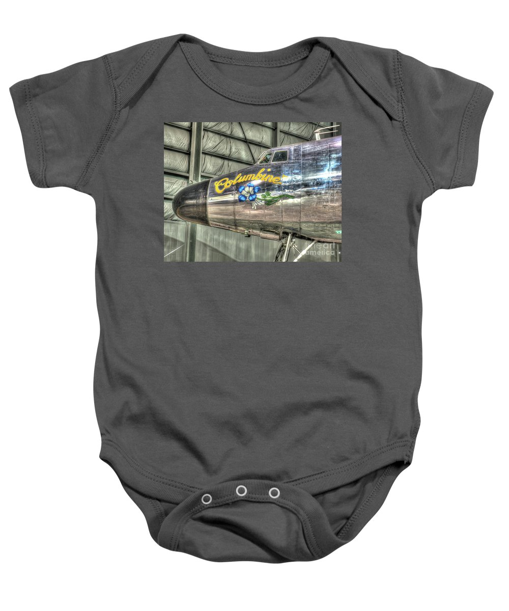 Dayton Baby Onesie featuring the photograph Presidential Aircraft - Lockheed Vc-121e Columbine by Greg Hager