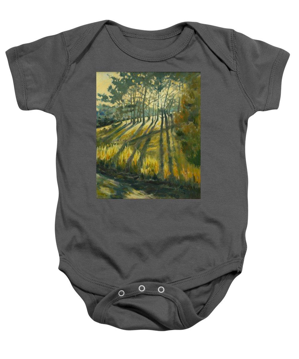 Trees Baby Onesie featuring the painting Presidio by Rick Nederlof