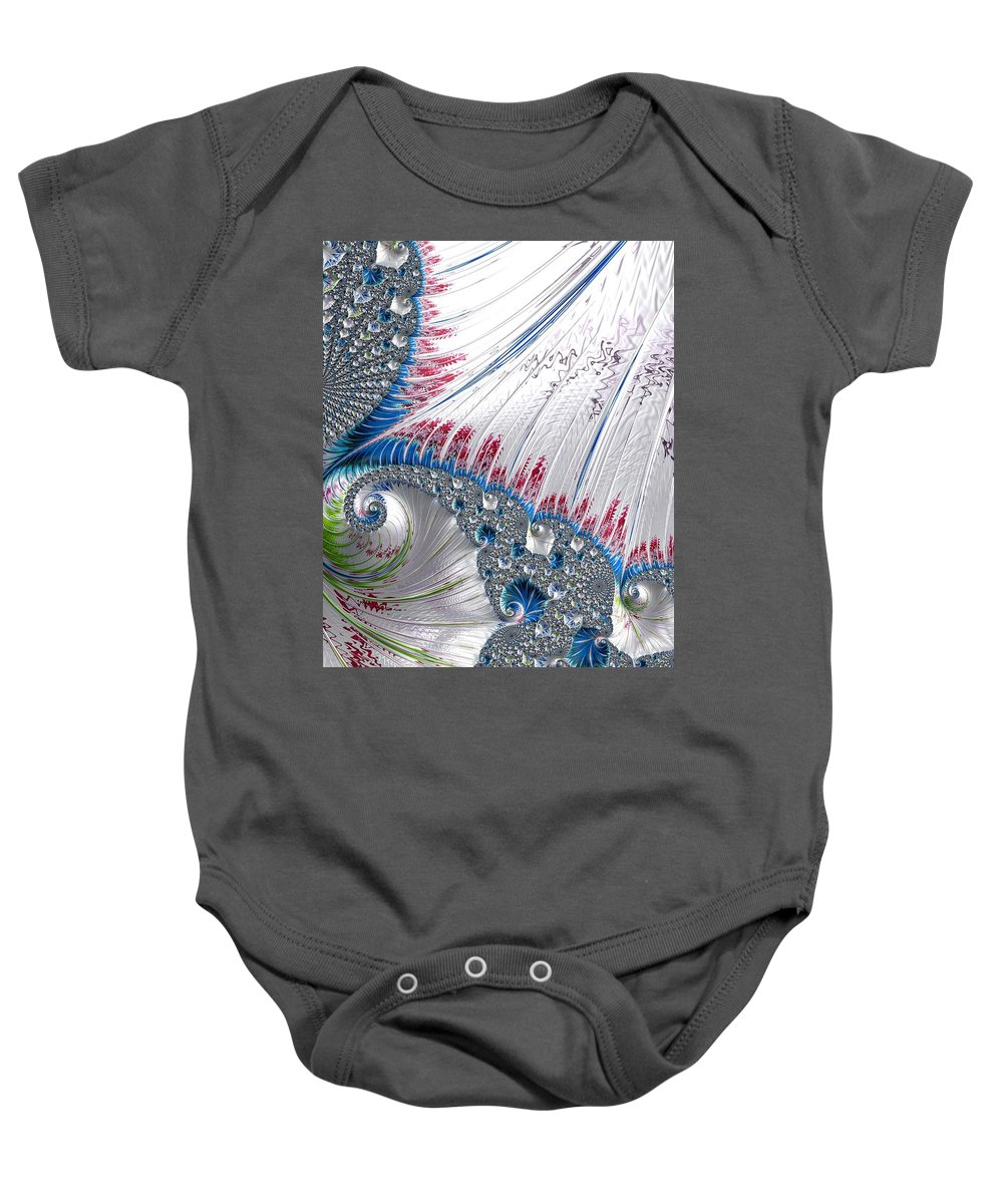 Dlcfuncreations Baby Onesie featuring the photograph Pretty Car Wash Blues by Diane Lindon Coy