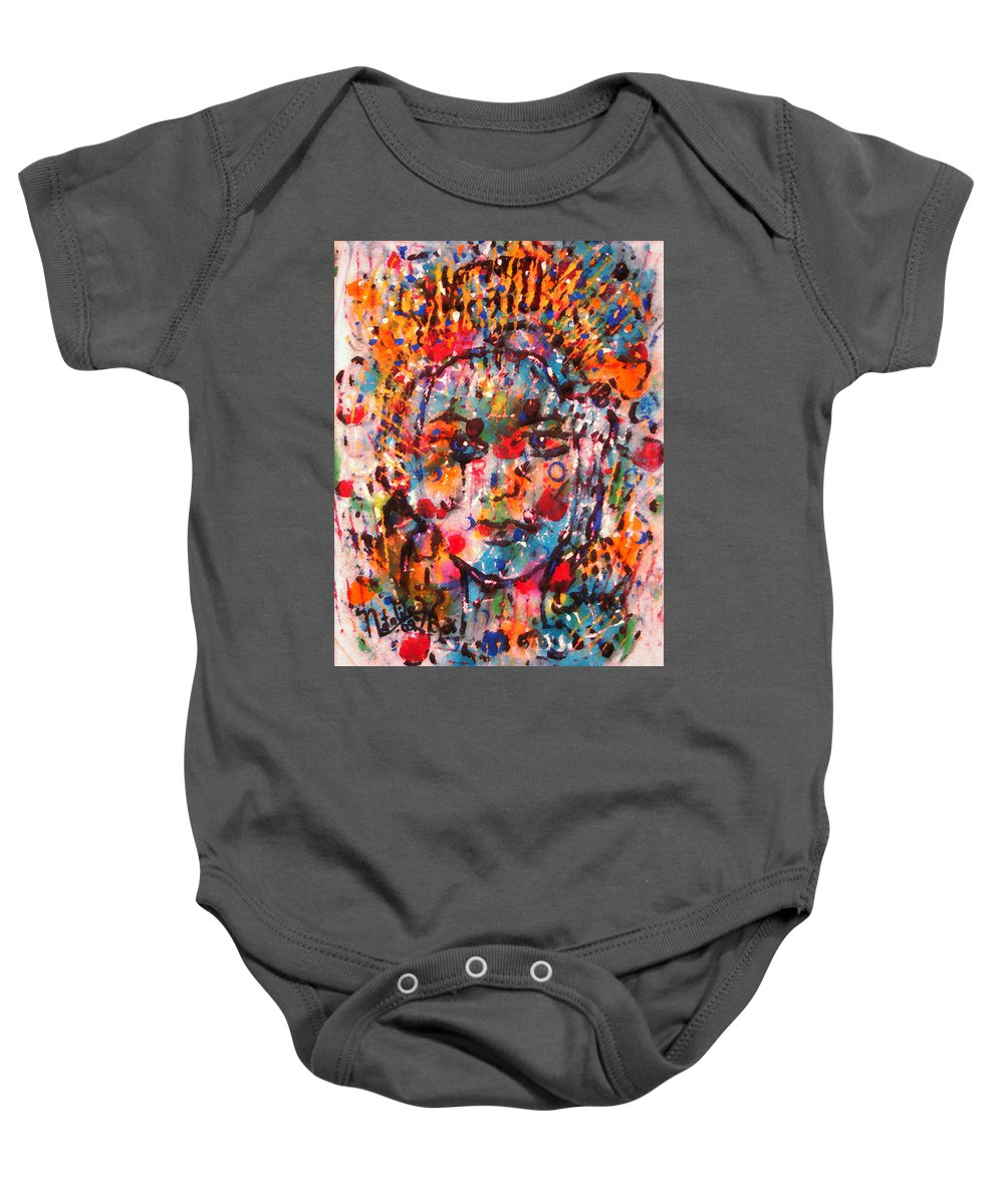 Happiness Baby Onesie featuring the painting Princess Of Happiness by Natalie Holland