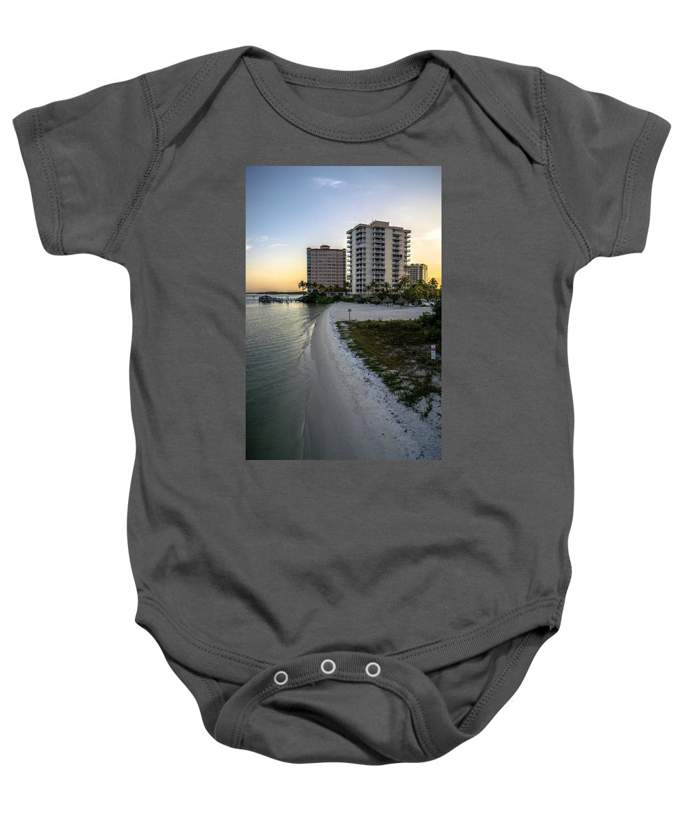 Private Beach Baby Onesie featuring the photograph Private Beach by Michael Frizzell