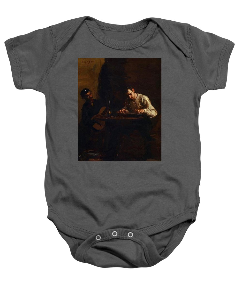 Professionals Baby Onesie featuring the painting Professionals At Rehearsal 1883 by Eakins Thomas