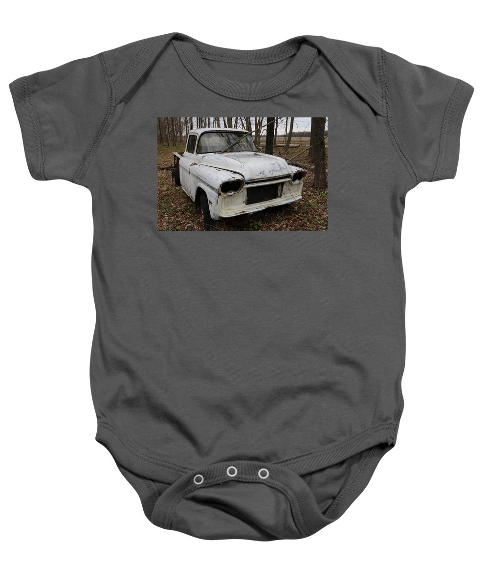 Digital Baby Onesie featuring the photograph Project Stalled by Jeff Roney
