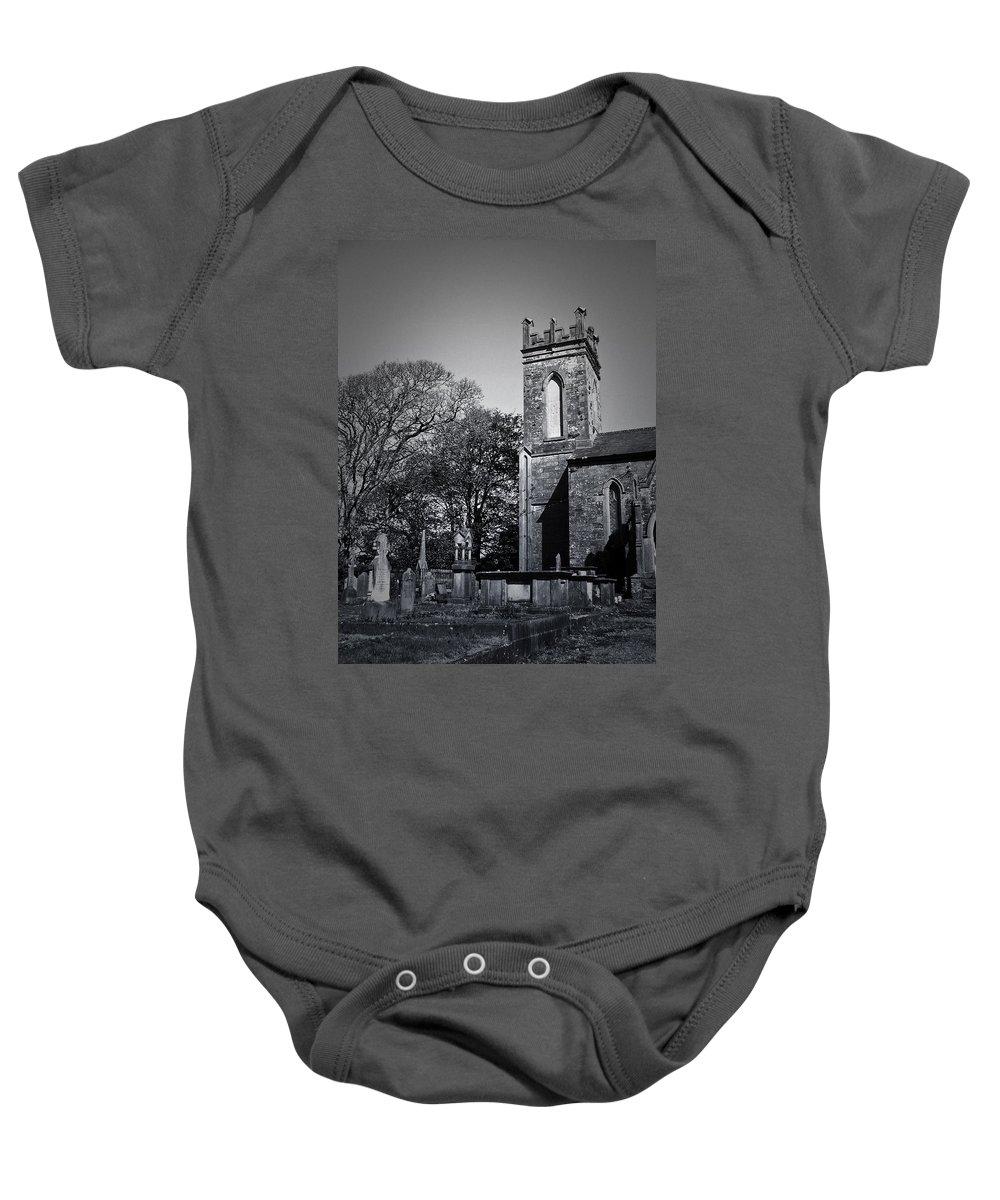 Irish Baby Onesie featuring the photograph Protestant Church Macroom Ireland by Teresa Mucha