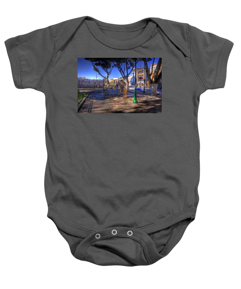 Puebla Baby Onesie featuring the photograph Puebla Mexico by Lee Santa