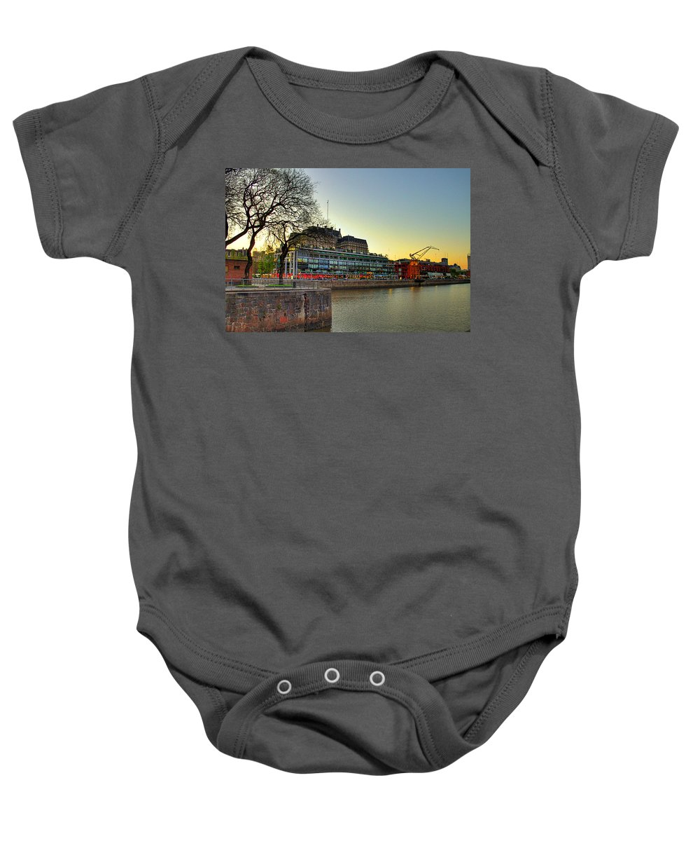 Buenos Baby Onesie featuring the photograph Puerto Madero Entrance by Francisco Colon