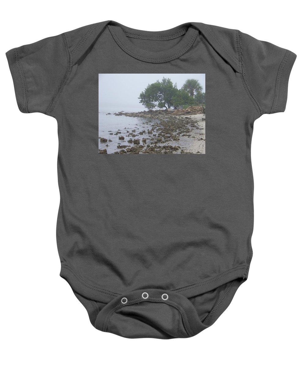 Mist Baby Onesie featuring the photograph Punta Gorda by Laurie Paci