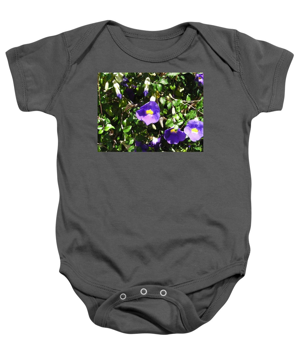 Purple Baby Onesie featuring the photograph Purple Flower by Stacey Marshall