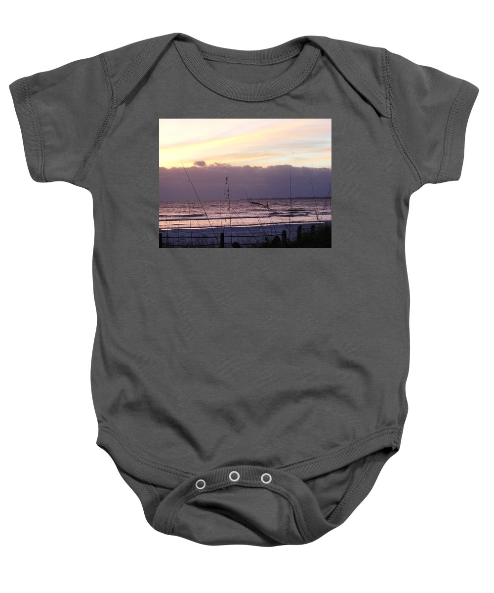 Landscape Baby Onesie featuring the photograph Purple Haze by Ed Smith