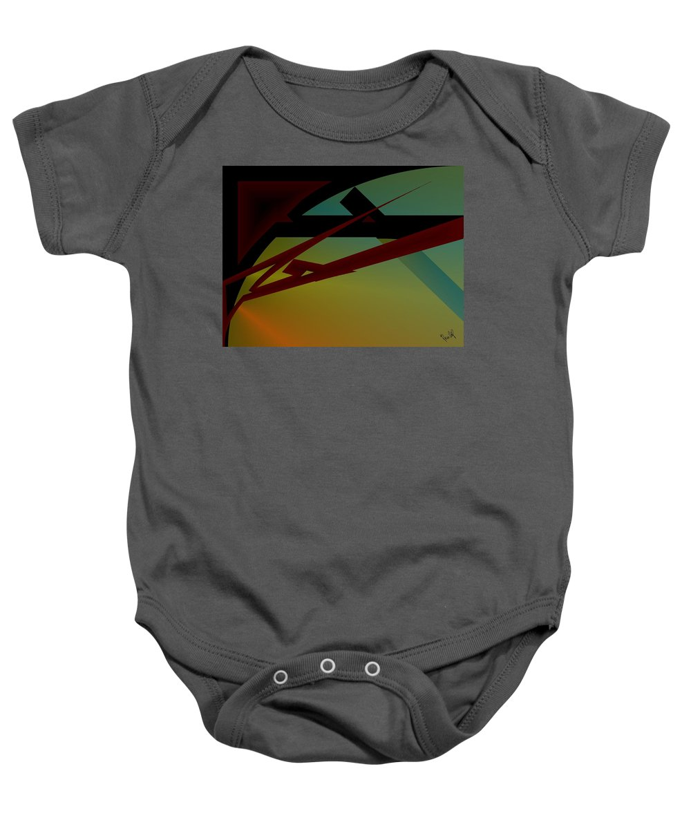 Quarter Baby Onesie featuring the digital art Quarter by Helmut Rottler