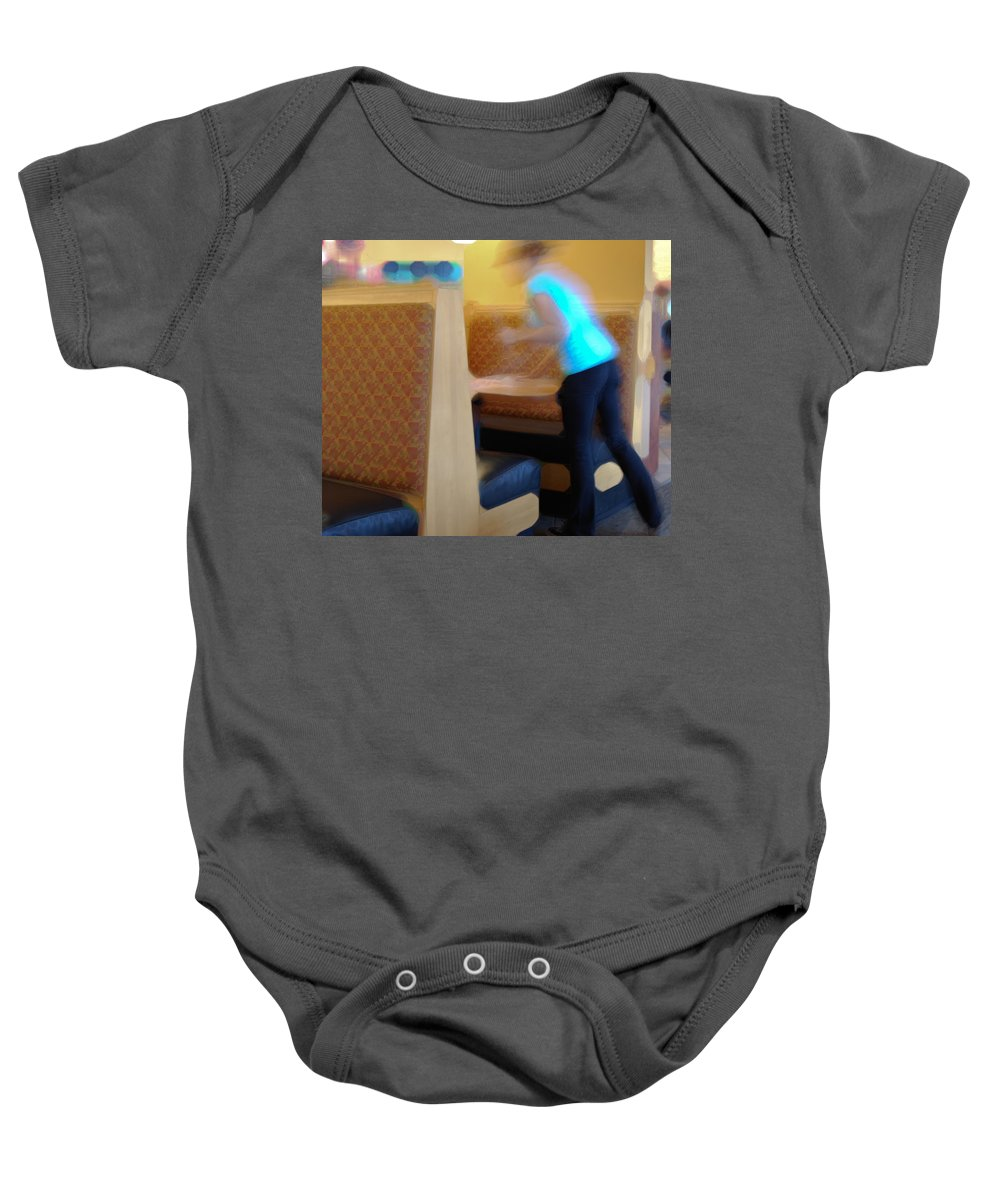 Clean Baby Onesie featuring the photograph Quick Cleanup by Paulette B Wright