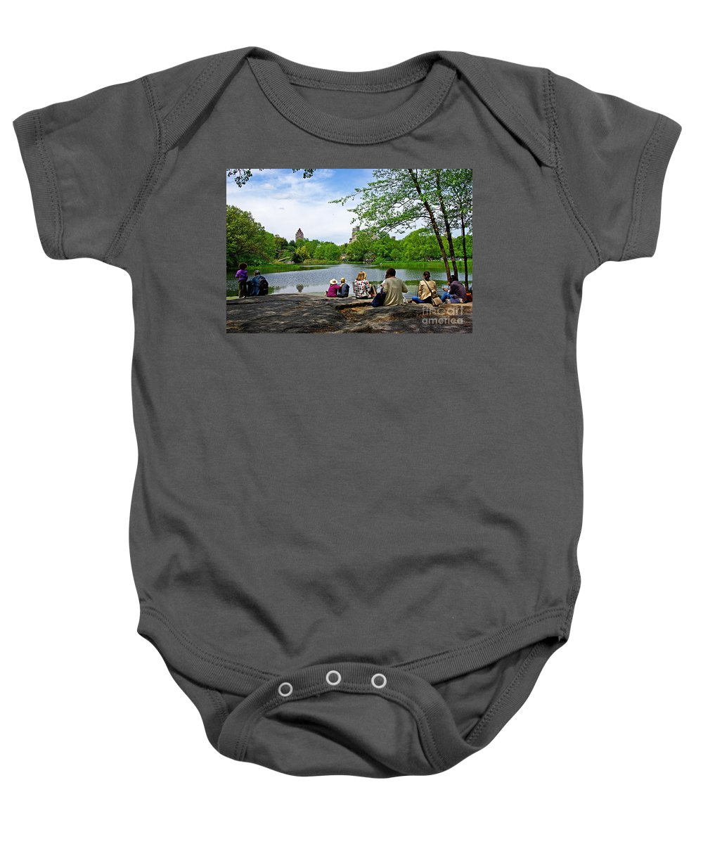 Central Park Baby Onesie featuring the photograph Quiet Moment In Central Park by Zal Latzkovich