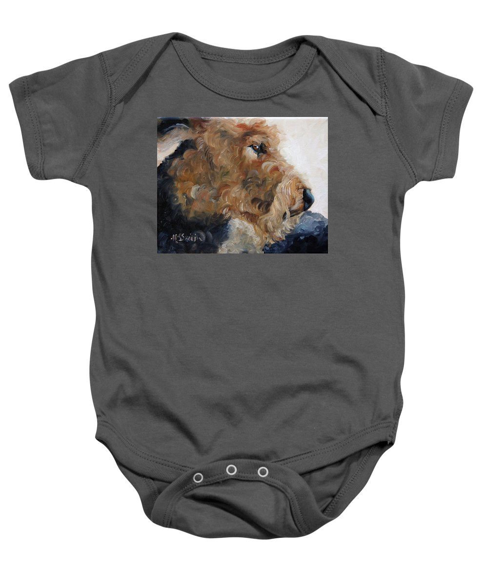 Art Baby Onesie featuring the painting Quiet Moment by Mary Sparrow