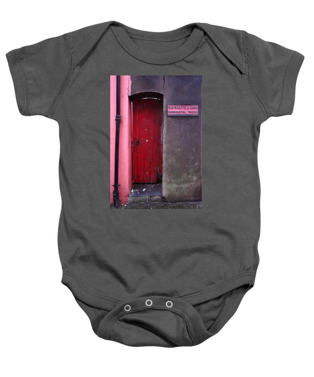 Red Baby Onesie featuring the photograph R. O. Keeffee And Sons by Tim Nyberg