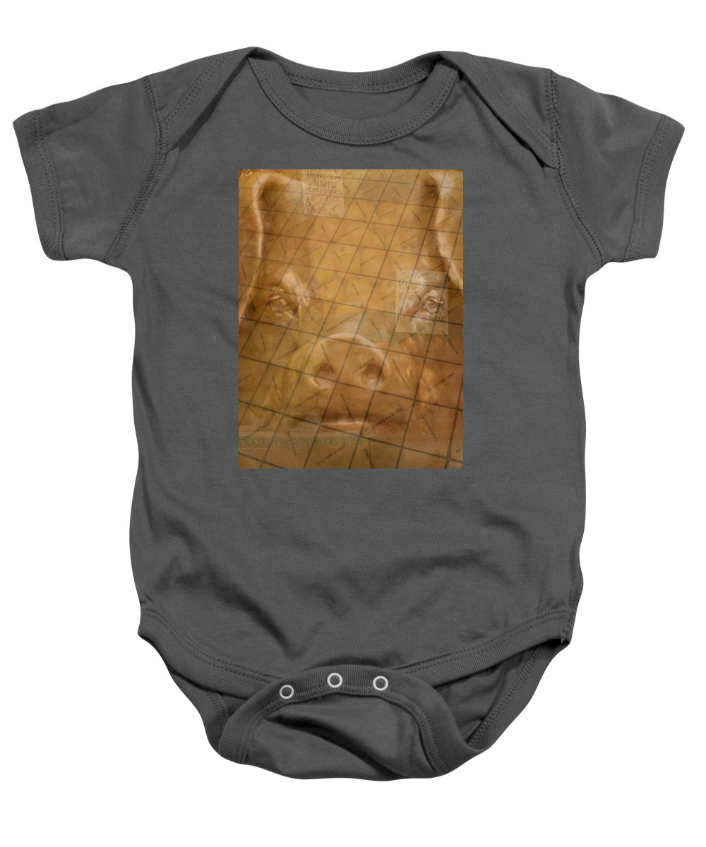 Seattle Baby Onesie featuring the photograph Rachael And The Market Tiles by Tim Allen