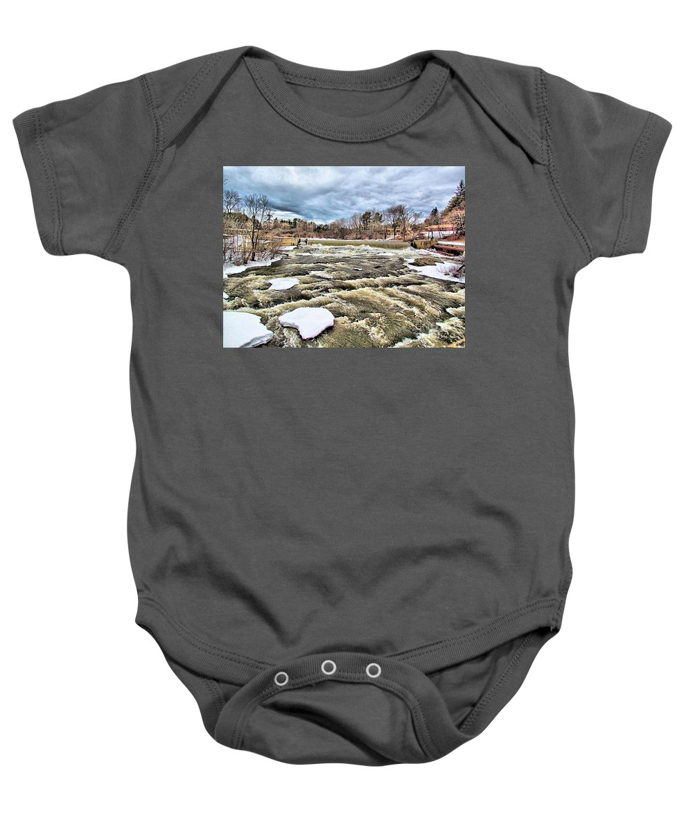 Royal River Baby Onesie featuring the photograph Raging Royal River by Elizabeth Dow