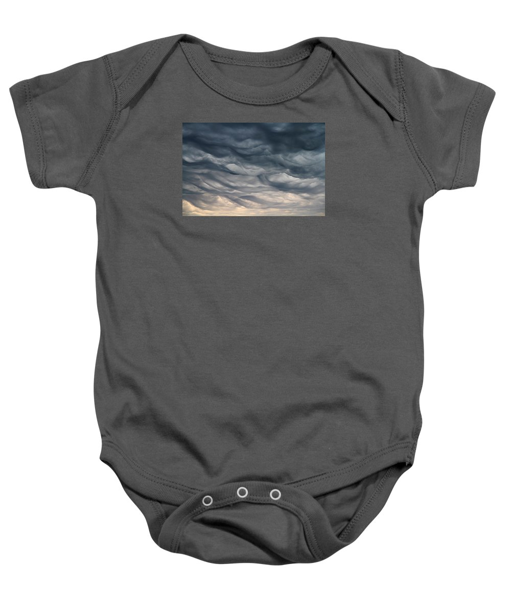 Rain Clouds Baby Onesie featuring the photograph Rain Clouds by Philip Neelamegam