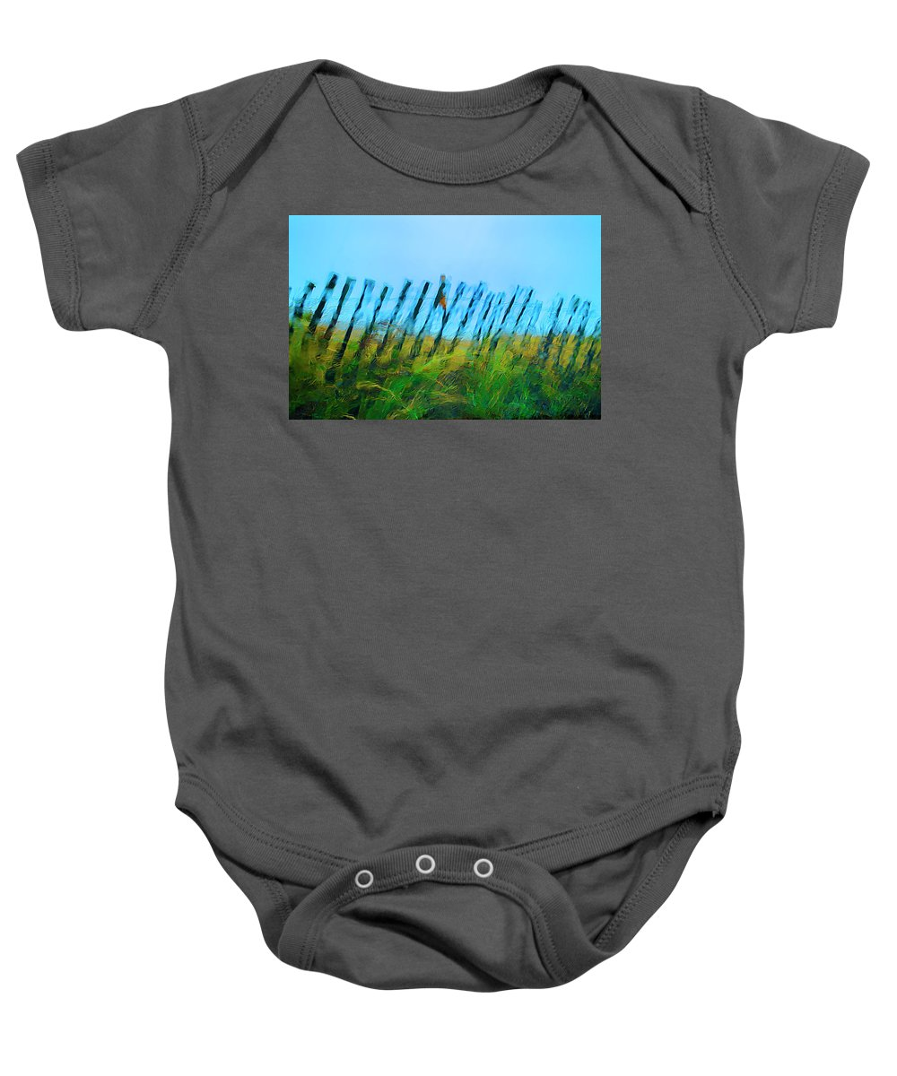 Rain Baby Onesie featuring the photograph Rain Storm by Rick Mosher
