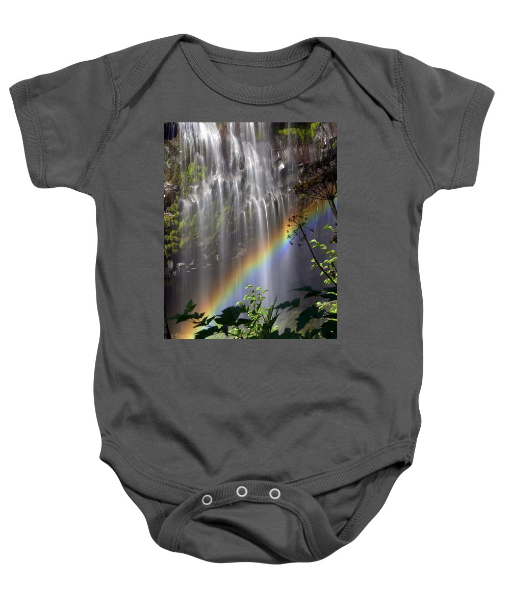 Waterfall Baby Onesie featuring the photograph Rainbow Falls by Marty Koch