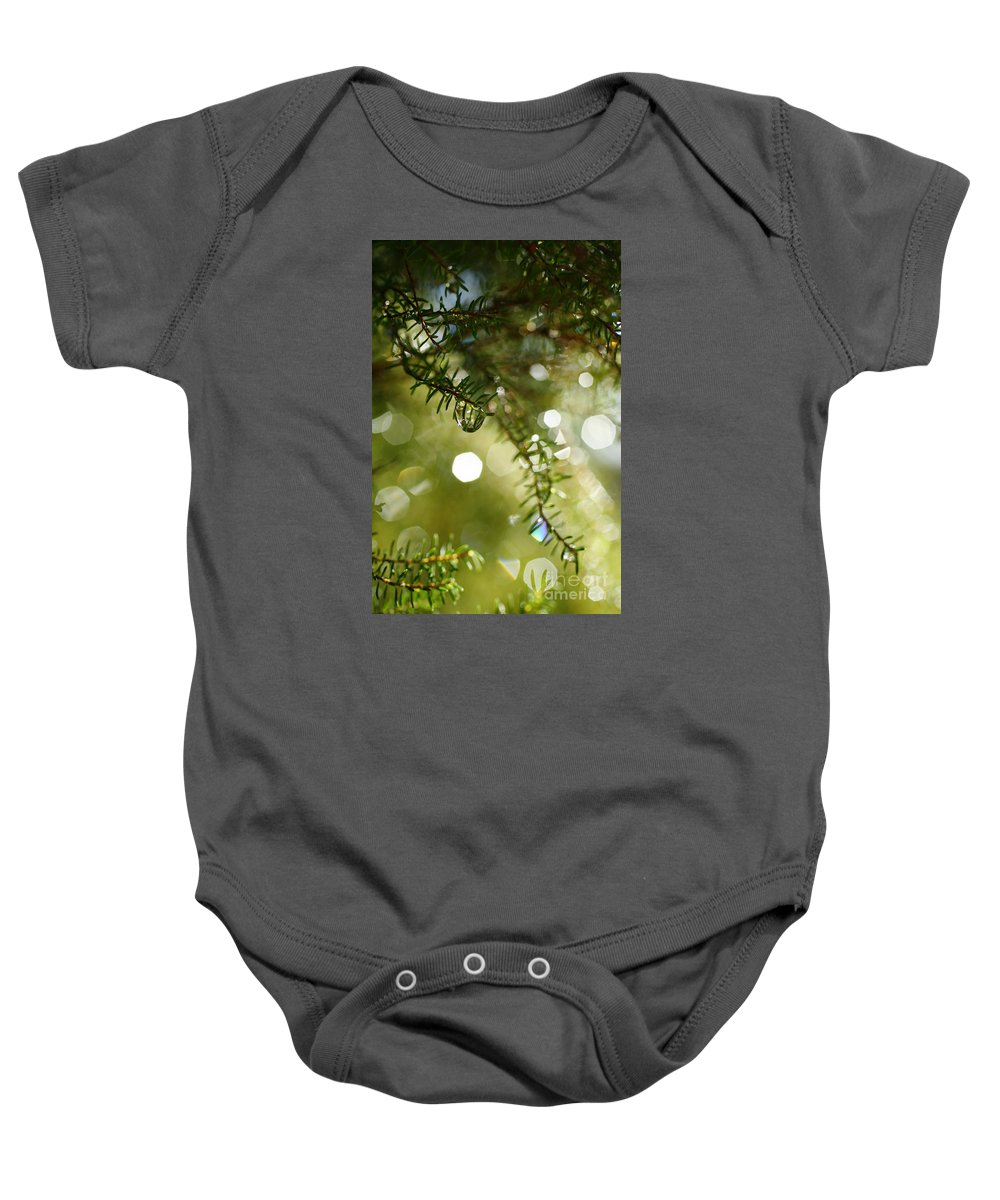 Dew Baby Onesie featuring the photograph Raindrops by Gaspar Avila