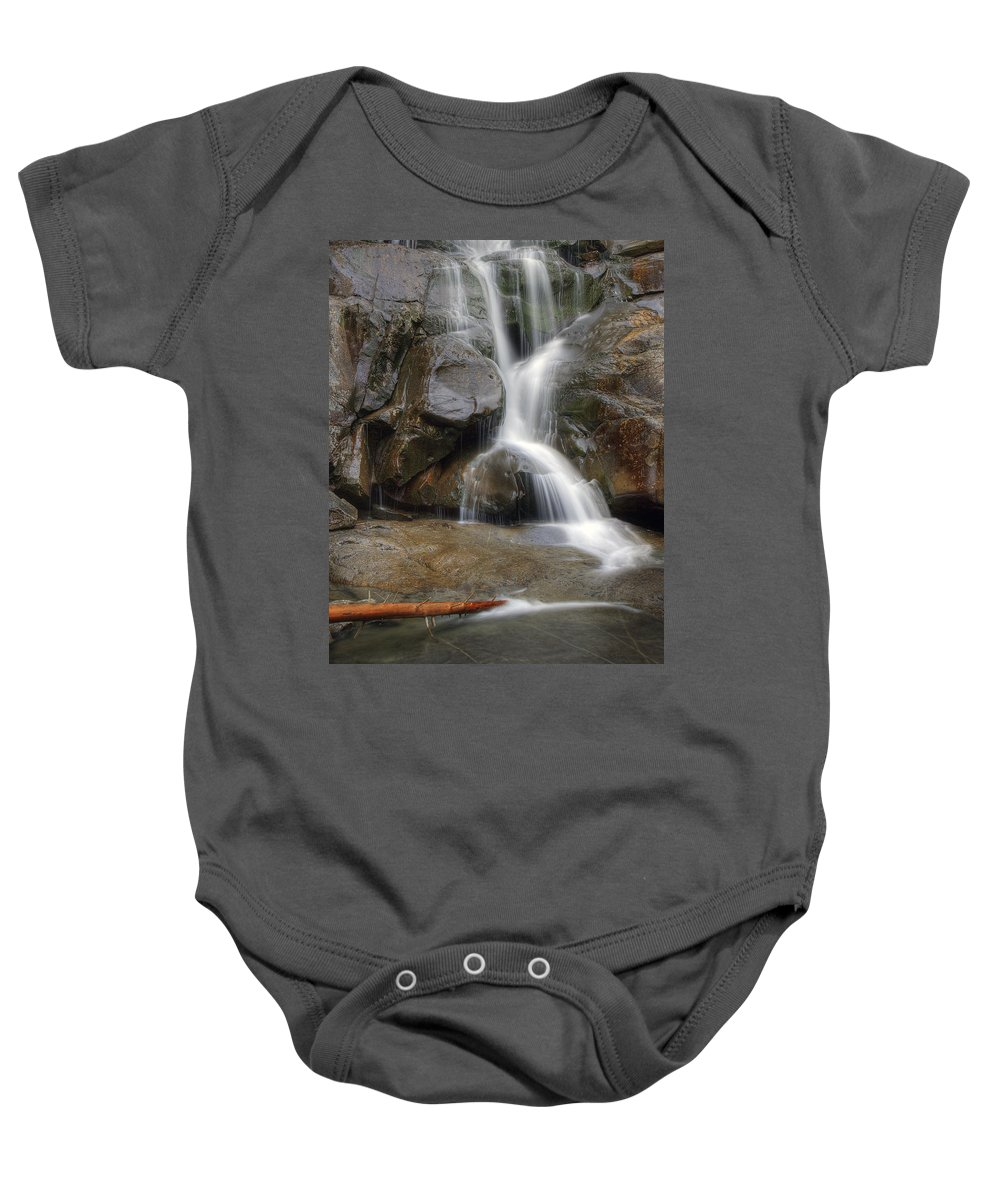 Ramsey Baby Onesie featuring the photograph Ramsey Cascades In Great Smoky Mountains National Park Tennesee by Brendan Reals