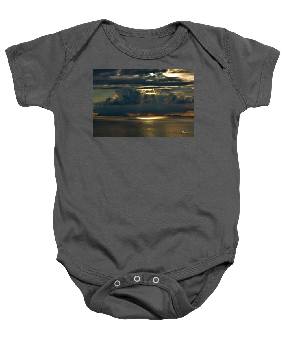 Clouds Baby Onesie featuring the photograph Rays Of God by Max Steinwald