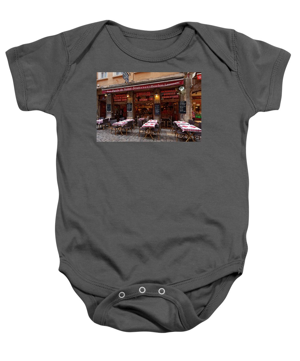 Restaurant Baby Onesie featuring the photograph Ready For Diners by Sally Weigand